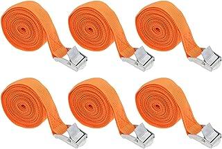 Garneck 6 peças de tiras de amarração com fivela ajustável, tiras de amarração de fivela para carga motocicleta, caminhão,...