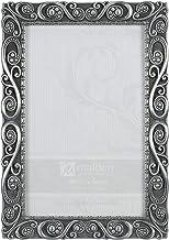 Malden International Designs Morgan Pewter Metal Picture Frame, 4x6, Silver