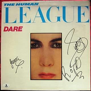 Human League 3x signed LP Album Cover Dare BAS Beckett