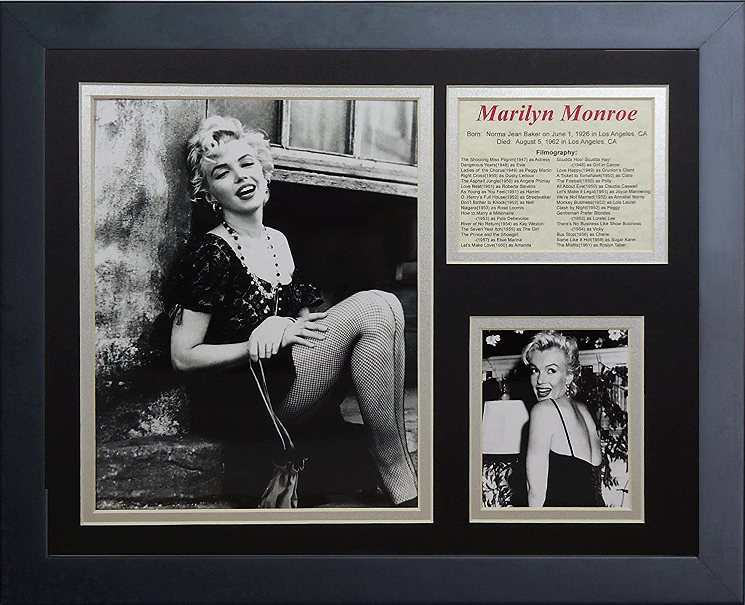 Legends Never Die Marilyn Monroe Framed Photo Collage, 11 by 14-Inch