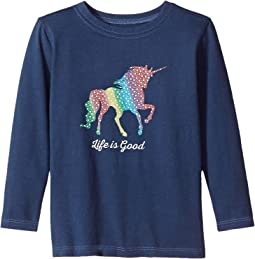Life is Good Kids - Unicorn Long Sleeve Crusher Tee (Toddler)