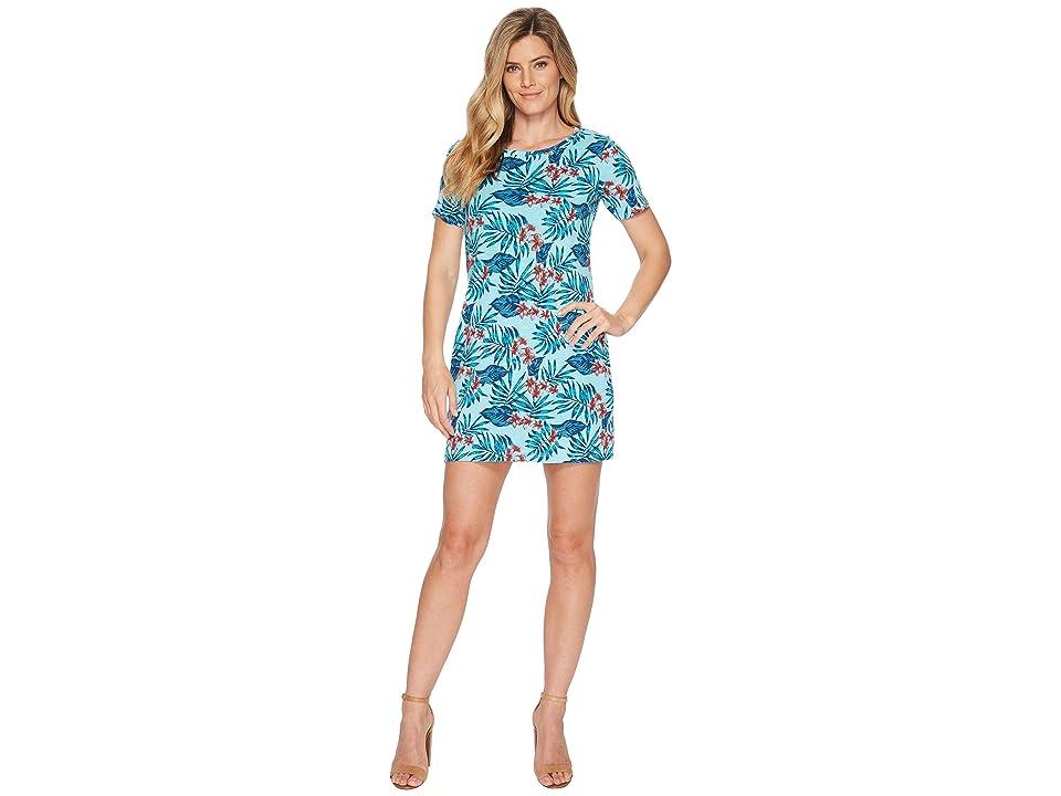 Tommy Bahama Maypop Short Sleeve Short Dress (Aqua Mist) Women
