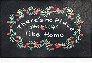 Doormats for Outdoor Entrance Welcome Mat for Front Door with Rubber Back Mat Indoor Outdoor Entryway Door Mat Porch Outside Entry Floor Shoes Mats, There is No Place Like Home-18
