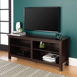 WE Furniture Minimal Farmhouse Wood Stand for TV's up to 64
