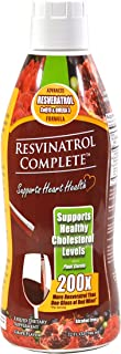 Resvinatrol Complete- 32 oz. Liquid Resveratrol Supplement- Promotes Healthy Aging, Heart Health & Energy Levels- Contains Grape Seed Extract, CoQ10, and Quercetin