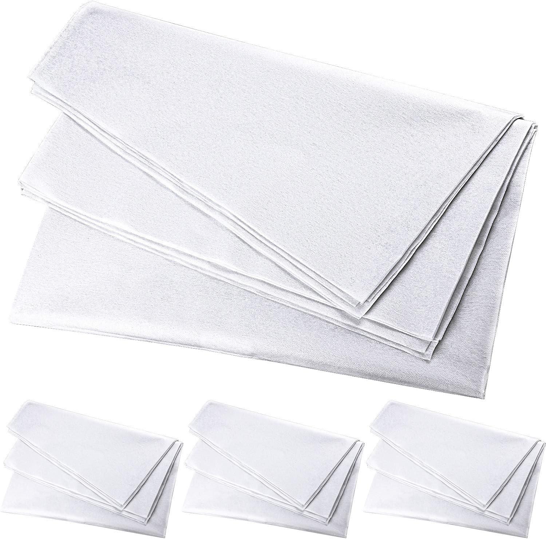 Aodaer Max 66% OFF 4 Pieces White Over item handling Fusible Fabric Non-Woven Non-A Interfacing