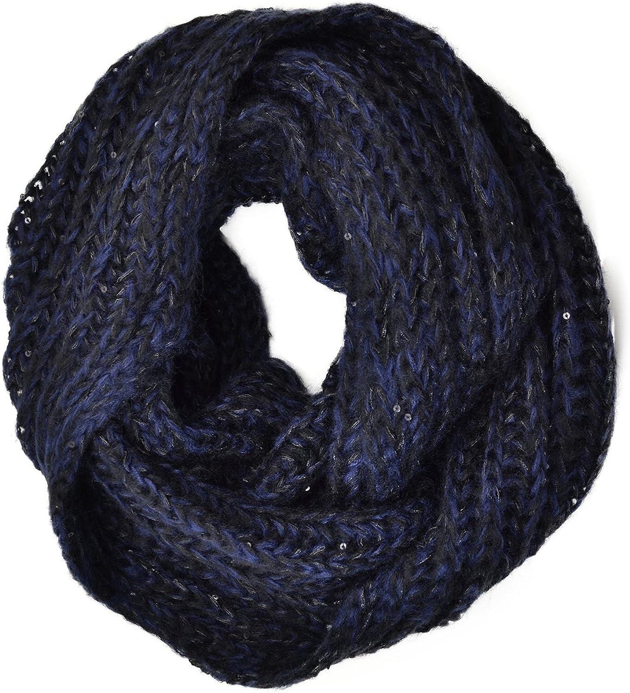 Genie By Eugenia Kim Women's Bonnie Infinity Scarf, Navy Black, One Size
