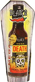 Blair's Mega Death Hot Sauce with Liquid Fury and Skull Key Chain, 5 Ounce