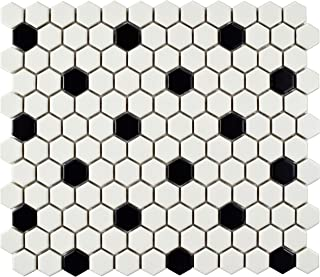 SomerTile FDXMHMWD Retro Hex Porcelain Floor and Wall Tile, 10.25
