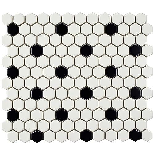 Ceramic Floor Tile Black White Amazoncom