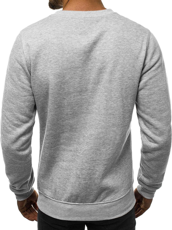 Ehpow Basic Sweat-Shirt /à Manches Longues pour Homme