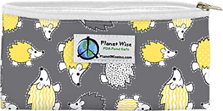 Planet Wise Reusable Zipper Sandwich and Snack Bags, Snack, Hedgehog Poly