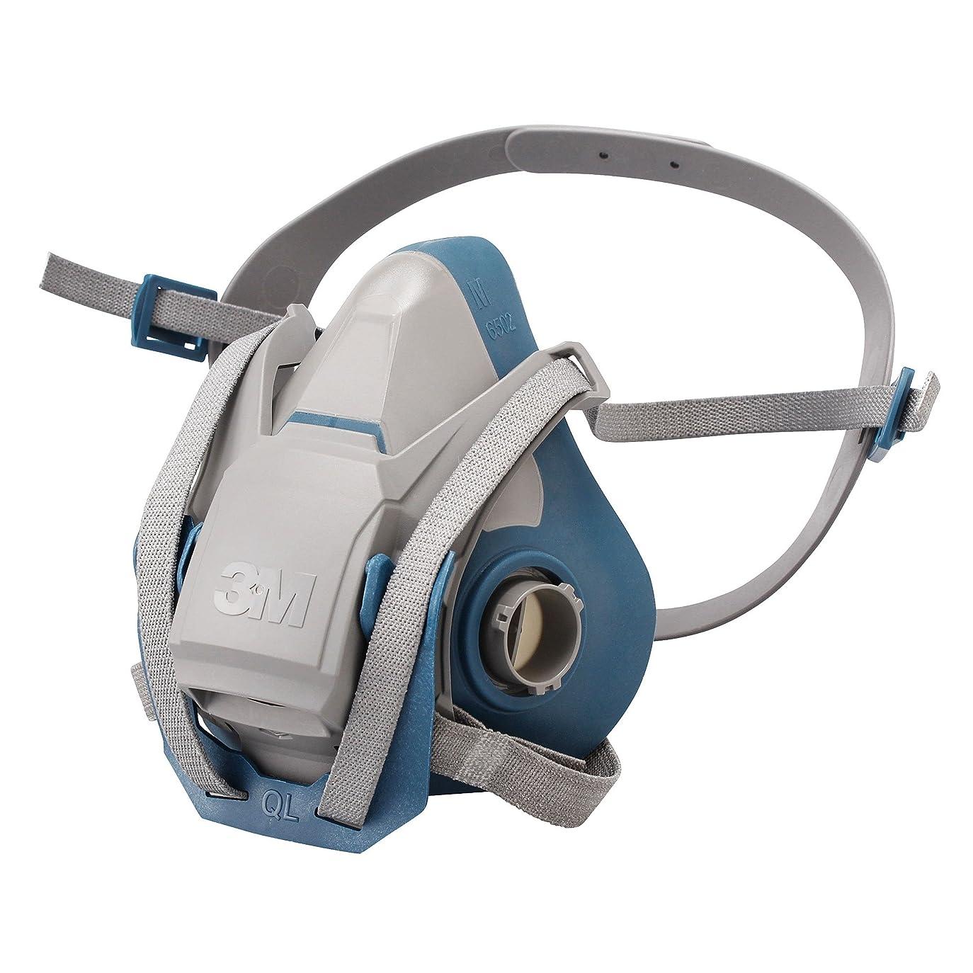緊張する明快進化3M 防毒マスク面体M (防じんマスク兼:区分3) 6500QL CL3M