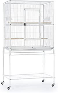 Prevue Pet Products Wrought Iron Flight Cage with Stand, Chalk White (F047)