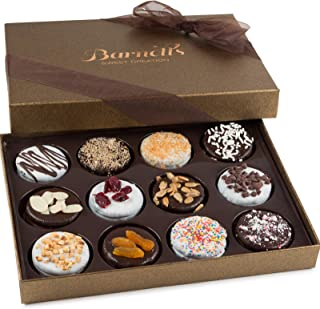 Barnett's Chocolate Cookies Gift Basket, Gourmet Christmas Holiday Corporate Food Gifts in Elegant Box, Thanksgiving, Hall...