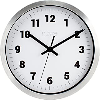 La Crosse Technology La Crosse 10 In Silver Metal Analog Wall Clock with White Dial, Pack of 1