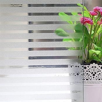 75cm x 200cm fancy-fix Fen/être autocollant film de Protection Vision pour Vitre D/écoration Maioson Bureau Transparent Motif Rayures