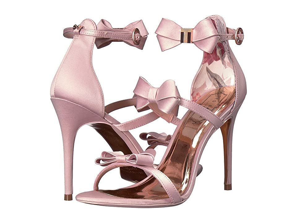 Ted Baker Nuscala Stiletto Sandal (Light Pink Textile) High Heels