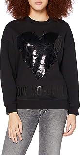 Love Moschino Long Sleeve Fleece Sweater_Lightning Rock Logo Maglione Donna