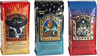 Raven's Brew Whole Bean Coffee Variety Pack, Number 2, 12 Ounce (Pack of 3)
