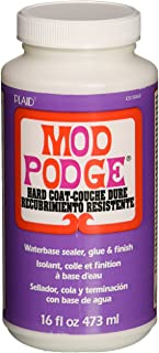 Mod Podge CS15063 Waterbased Sealer, Glue & Finish, 16 oz, Hard Coat, 16 ounce, Clear