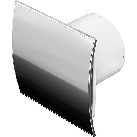 DUO Design Badl/üfter Wandl/üfter Leise R/ückstauklappe Kugellager Feuchtesensor /Ø 125 mm Silber geb/ürstet 18151-010 MKK