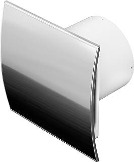 Baño Ventilador Ventilador Ventilador techo Ventilador Frontal de Acero Inoxidable con seguimiento/temporizador Ø100mm wei100t Ventilador de pared
