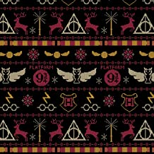 Harry Potter Christmas Sweater Black Premium Quality 100% Cotton Sold by The Yard.