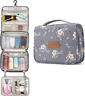 Kulturtasche Zum Aufhängen für Frauen Damen Reise Kulturbeutel Kosmetiktasche Waschtasche (Grau)