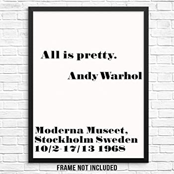 The world I like boring Set of 3 Andy Warhol Prints quotes people should