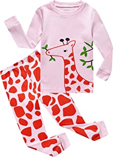14c2d0db1 KikizYe Pajamas for Little Big Girls Long Sleeve Pajama Sets 100% Cotton Pjs