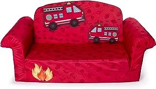 Marshmallow Furniture - Children's 2 in 1 Fire Truck Flip Open Foam Sofa (Amazon Exclusive)