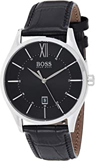 Hugo Boss Men's Black Dial Black Leather Watch - 1513794