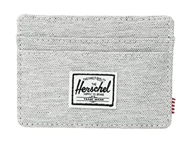 Herschel Supply Co. Charlie RFID (Light Grey Crosshatch 1) Wallet Handbags