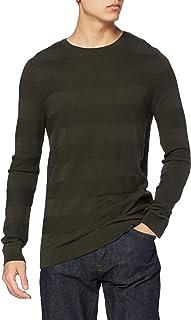 Lee Cooper Men's STRIPED KNIT JUMPER Sweater