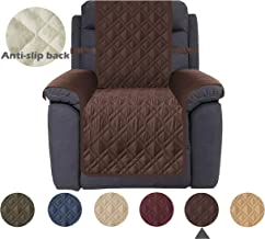 Ameritex Waterproof Nonslip Recliner Cover Stay in Place, Dog Couch Chair Cover Furniture Protector, Ideal Loveseat Slipcovers for Pets and Kids (Pattern1:Chocolate, Recliner)