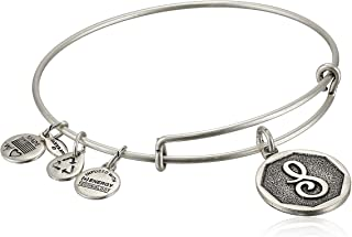 Alex and Ani Womens Initial S Charm Bangle