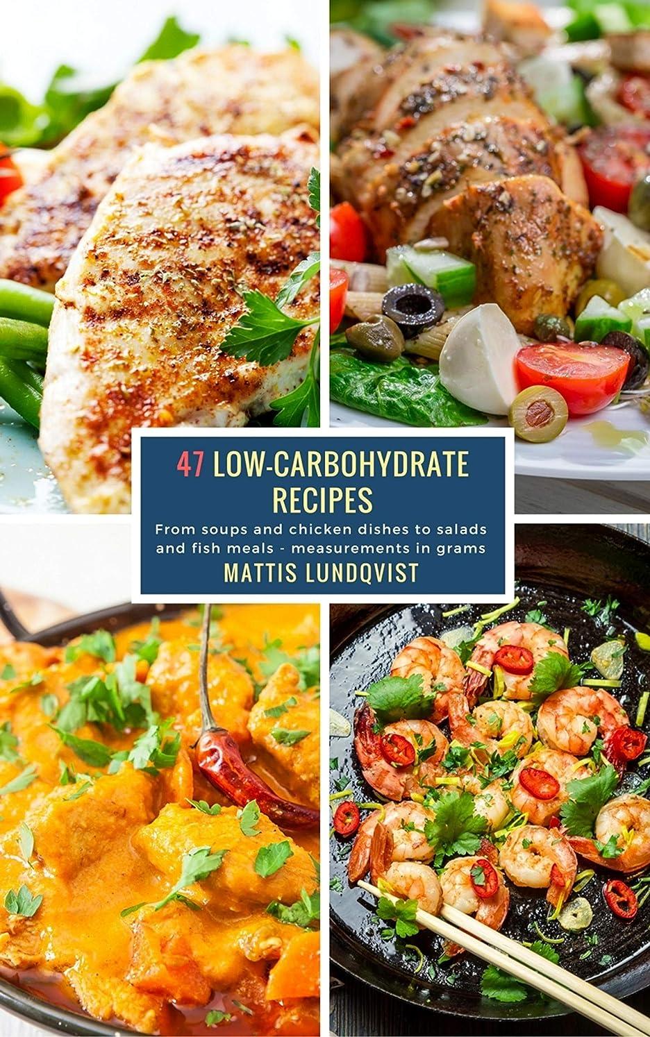 肘掛け椅子つかいますアカデミー47 Low-Carbohydrate Recipes: From soups and chicken dishes to salads and fish meals - measurements in grams (English Edition)