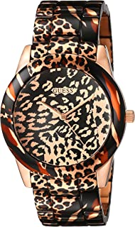 Guess Womens Quartz Watch, Analog Display and Resin Strap U0425L3
