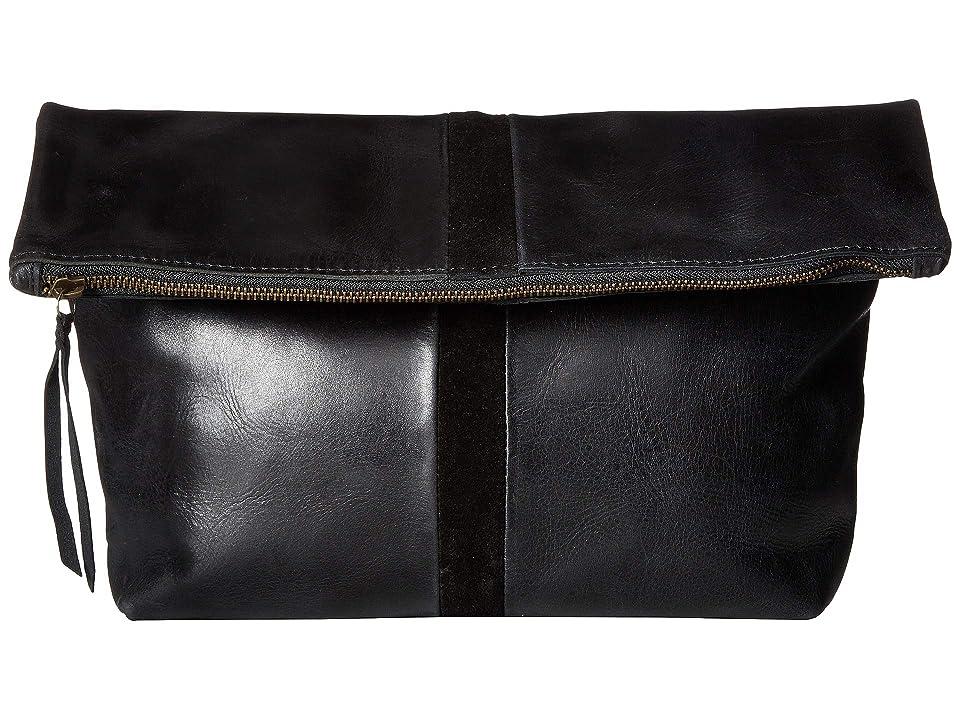 ABLE Foldover Emnet (Black/Black) Handbags