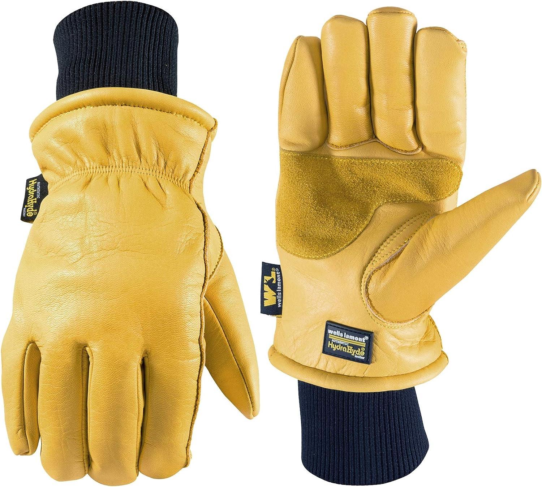 Men's HydraHyde New sales Leather Winter Portland Mall Work 1202XL Lamont Gloves Wells