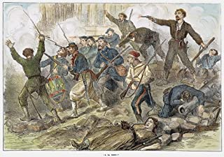 Paris Commune 1871 NA La Mort Communards Fighting In The Streets During The Paris Commune Of 1871 Wood Engraving From A Contemporary English Newspaper Poster Print by (18 x 24)