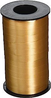 Berwick 3/8-Inch Wide by 250 Yard Spool Super Curl Crimped Splendorette Curling Ribbon, Gold