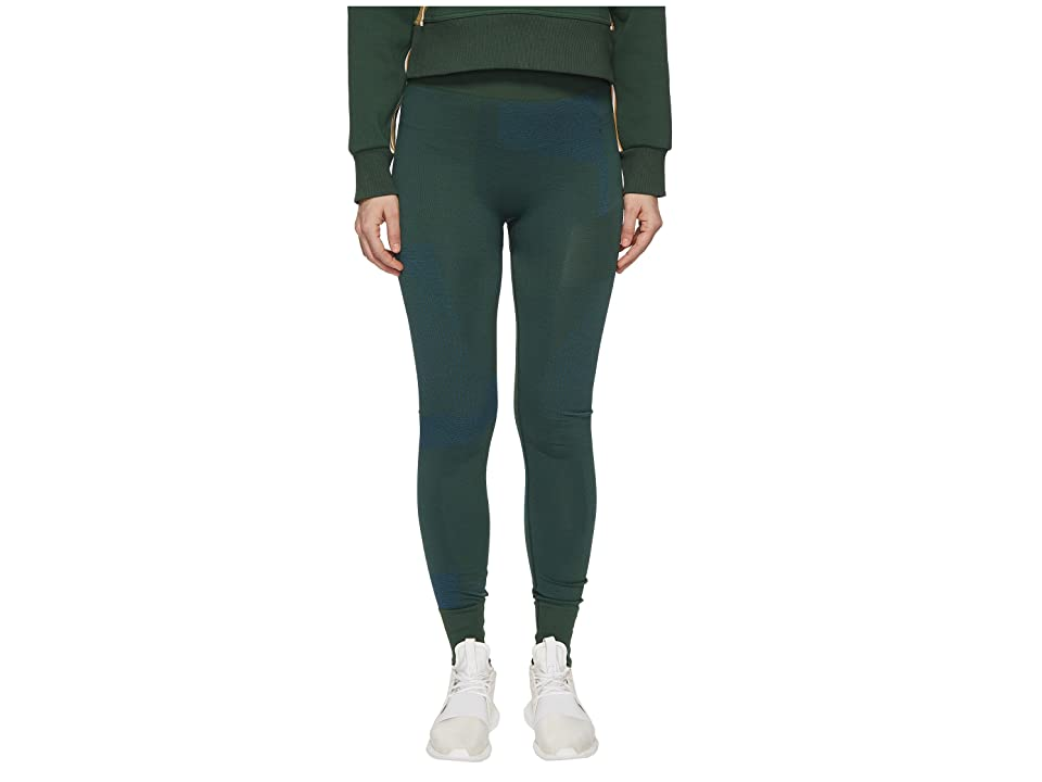 adidas by Stella McCartney Training Seamless Block Tights CE8439 (Dark Green) Women