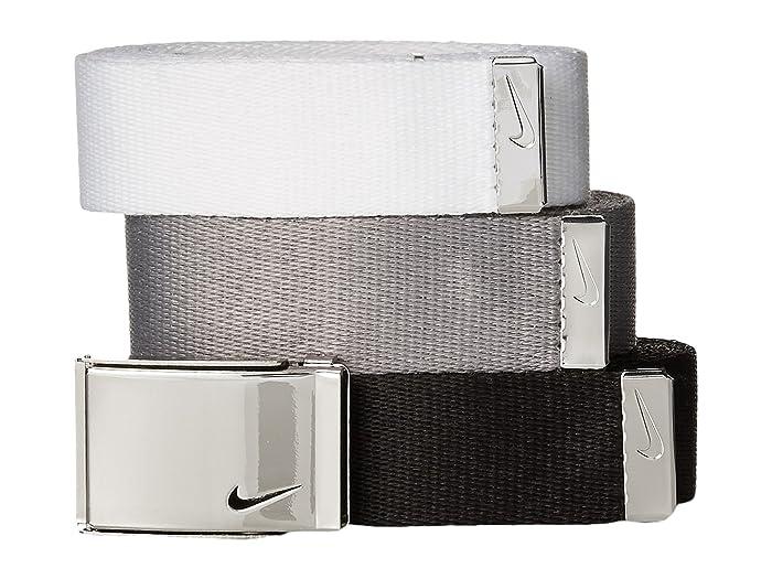 Nike  3-in-1 Web Pack (Black/White/Grey) Womens Belts