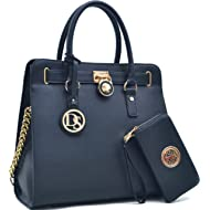 MMK collection Women Fashion Matching Satchel/ Tote handbags with walle(6417)t~Designer Purse...