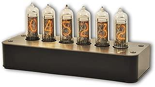 Makenology Nixie Tube Clock Boulder 2 - Stainless Steel Black Gray