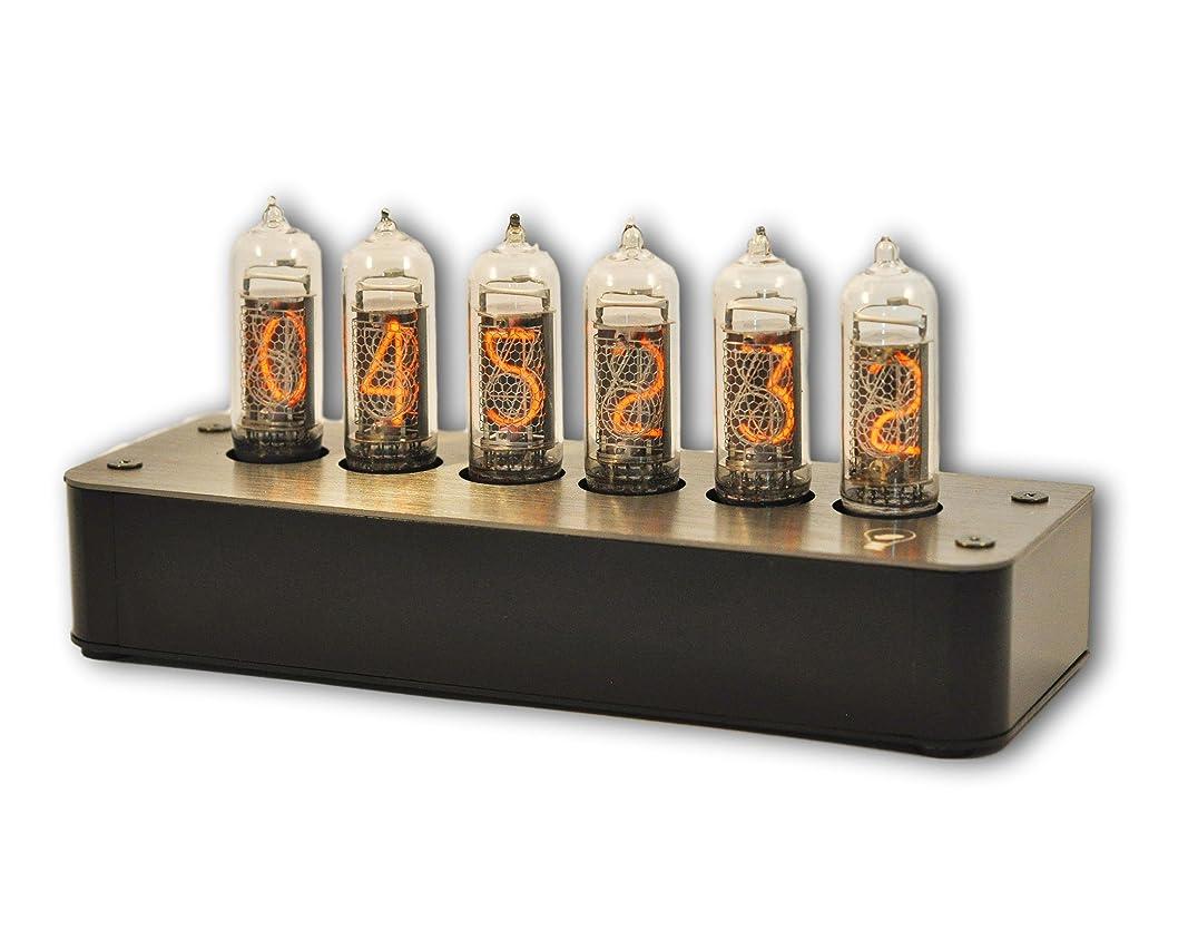 ストレッチ漂流輝度Nixie Tube Clock Boulder 2 - Free shipping - Stainless Steel Black Gray
