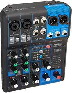 Yamaha MG06X 6 Input Stereo Mixer (with SPX Effects) w/Stereo 1/8