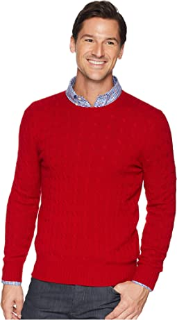 Cashmere Cable Crew Neck